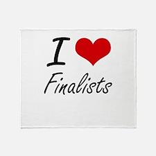 I love Finalists Throw Blanket