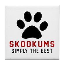 skookums Simply The Best Cat Designs Tile Coaster