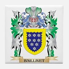 Baillivet Coat of Arms - Family Crest Tile Coaster