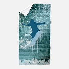 Snowboarding Beach Towel