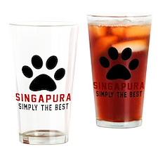 Singapura Simply The Best Cat Desig Drinking Glass