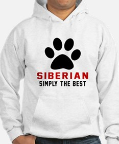 Siberian Simply The Best Cat Des Hoodie