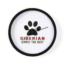Siberian Simply The Best Cat Designs Wall Clock