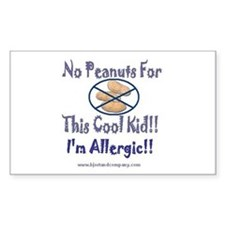 No Peanuts For This Cool Kid Rectangle Decal