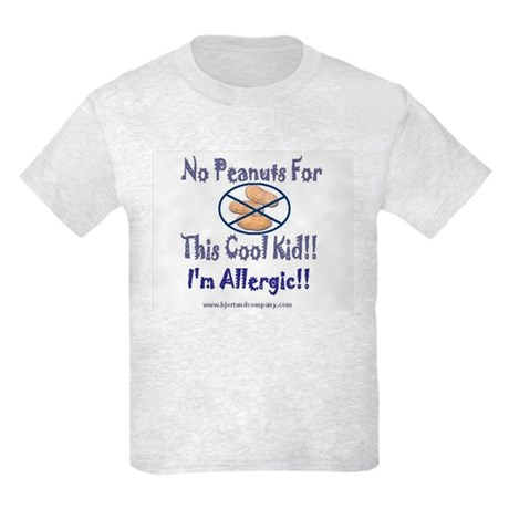 No Peanuts For This Cool Kid Kids Light T-Shirt