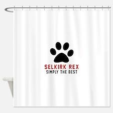 Selkirk Rex Simply The Best Cat Des Shower Curtain
