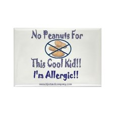 No Peanuts For This Cool Kid Rectangle Magnet