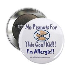 No Peanuts For This Cool Kid Button