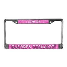 Pink Polka Dt Ducorps Cockatoo License Plate Frame