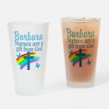 FAITH FILLED NURSE Drinking Glass