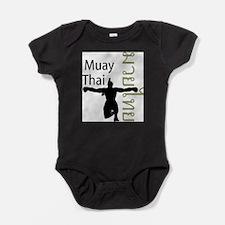 Funny Muay thai Baby Bodysuit