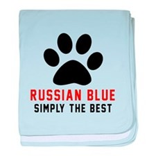 Russian Blue Simply The Best Cat Desi baby blanket