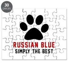 Russian Blue Simply The Best Cat Designs Puzzle