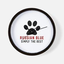 Russian Blue Simply The Best Cat Design Wall Clock