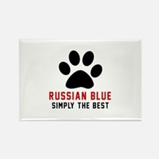 Russian Blue Simply The Best Cat Rectangle Magnet