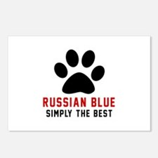Russian Blue Simply The B Postcards (Package of 8)