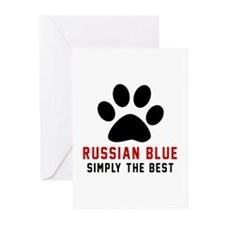 Russian Blue Simply The Greeting Cards (Pk of 10)