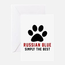Russian Blue Simply The Best Cat Des Greeting Card
