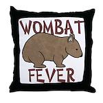 Wombat Fever III Throw Pillow