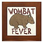 Wombat Fever III Framed Tile