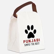 Punjabi Simply The Best Cat Desig Canvas Lunch Bag