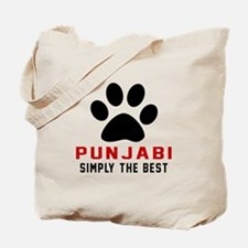 Punjabi Simply The Best Cat Designs Tote Bag