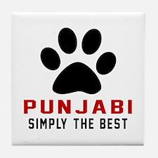 Punjabi Simply The Best Cat Designs Tile Coaster