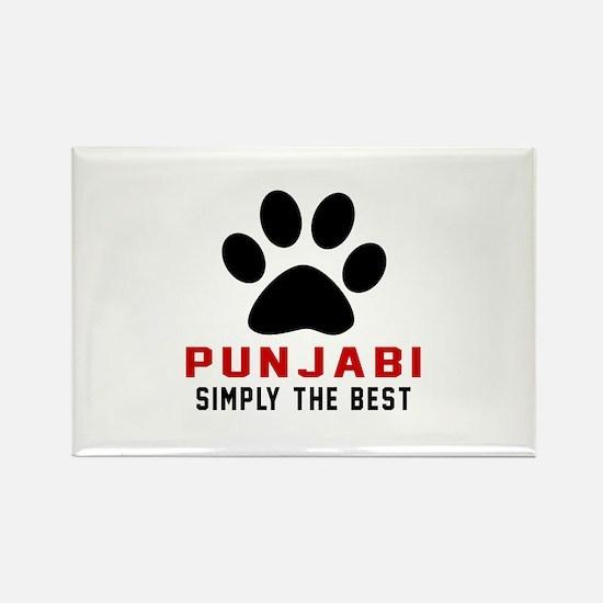 Punjabi Simply The Best Cat Desig Rectangle Magnet