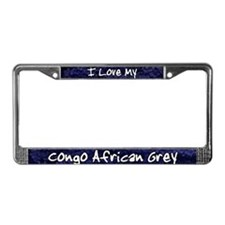 Funky Love Congo African Grey License Plate Frame