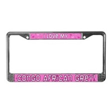 Pink Plk Dt Congo African Grey License Plate Frame