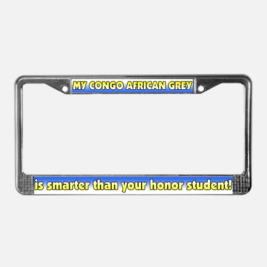 Hnr Student Congo African Grey License Plate Frame