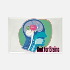 Knit for Brains Rectangle Magnet (10 pack)