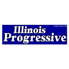 Illinois Progressive Bumper Bumper Sticker