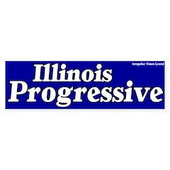 Illinois Progressive Bumper Bumper Sticker