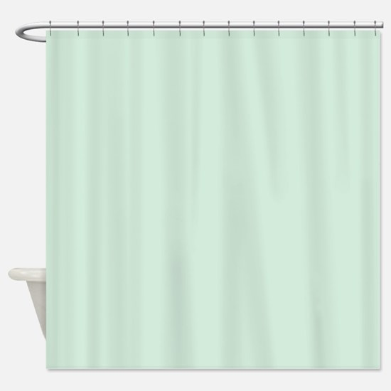 Mint Solid Color Shower Curtain