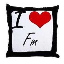 Unique Radio stations Throw Pillow
