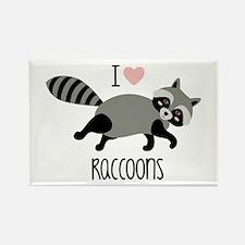 I Love Raccoons Magnets