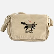 I Love Raccoons Messenger Bag