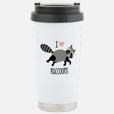I Love Raccoons Travel Mug