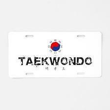 Taekwondo Aluminum License Plate