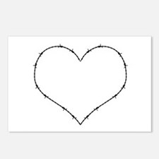 Barbed Wire Heart Postcards (Package of 8)