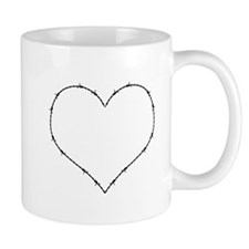 Barbed Wire Heart Mugs