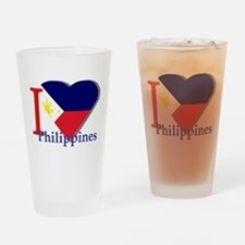 I love Philippines Drinking Glass