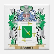Barbet Coat of Arms - Family Crest Tile Coaster