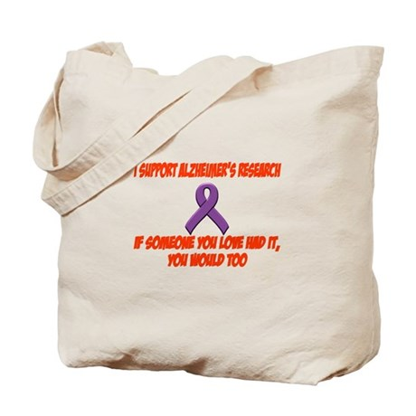 I support alzheimer's research Tote Bag
