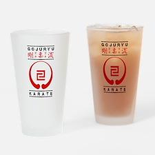 Gojuryu Symbol and text Drinking Glass