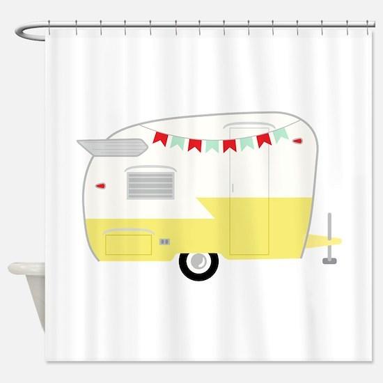 Vintage Camper Shower Curtain