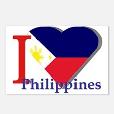 I Love Philippines Postcards (package Of 8)