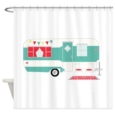 Retro Camper Shower Curtain