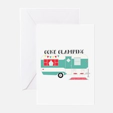 Gone Glamping Greeting Cards